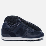 Мужские кроссовки New Balance M576LNN Grain Leather Navy фото- 1