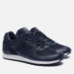Мужские кроссовки New Balance M576LNN Grain Leather Navy фото- 2