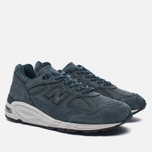 Мужские кроссовки New Balance M990DRK2 Dark Green/Dark Grey фото- 2