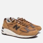 Мужские кроссовки New Balance M990DVN2 Tan/Brown фото- 2