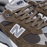 Мужские кроссовки New Balance M991CFN Green фото- 5
