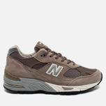 Мужские кроссовки New Balance M991EFS Cappuccino/Silver фото- 0