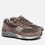 Мужские кроссовки New Balance M991EFS Cappuccino/Silver фото- 2