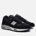 Мужские кроссовки New Balance M991EKS Black/Silver фото- 2