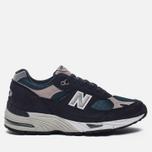 Мужские кроссовки New Balance M991FA Navy/Turquoise фото- 0