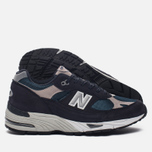 Мужские кроссовки New Balance M991FA Navy/Turquoise фото- 2