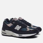 Мужские кроссовки New Balance M991FA Navy/Turquoise фото- 1