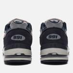 Мужские кроссовки New Balance M991FA Navy/Turquoise фото- 3