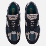 Мужские кроссовки New Balance M991FA Navy/Turquoise фото- 4