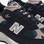 Мужские кроссовки New Balance M991FA Navy/Turquoise фото- 5