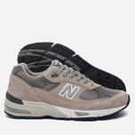 Мужские кроссовки New Balance M991GL Grey/Silver фото- 1