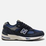 Мужские кроссовки New Balance M991SLE Black/Blue фото- 0