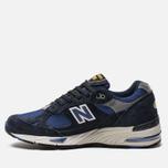 Мужские кроссовки New Balance M991SLE Black/Blue фото- 1