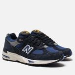 Мужские кроссовки New Balance M991SLE Black/Blue фото- 2