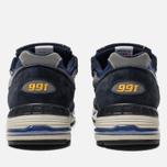 Мужские кроссовки New Balance M991SLE Black/Blue фото- 3