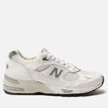 Мужские кроссовки New Balance M991WHI White/Light Grey фото- 0