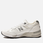 Мужские кроссовки New Balance M991WHI White/Light Grey фото- 2