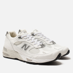 Мужские кроссовки New Balance M991WHI White/Light Grey фото- 1