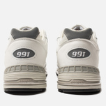 Мужские кроссовки New Balance M991WHI White/Light Grey фото- 3