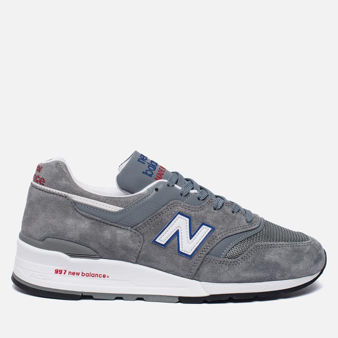 Мужские кроссовки New Balance M997CNR Grey/Blue/Red