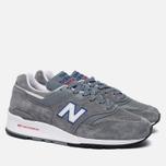Мужские кроссовки New Balance M997CNR Grey/Blue/Red фото- 1