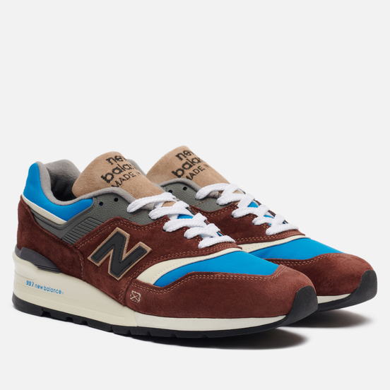 Мужские кроссовки New Balance M997SOE Elevated Basics Brown/Blue/White