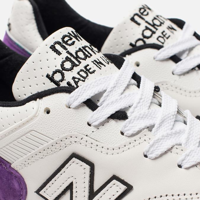 newest 71b56 9eab0 Мужские кроссовки New Balance M997WEA Suede White/Purple M997WEA