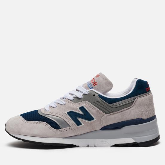 Мужские кроссовки New Balance M997WEB Suede Grey/Navy