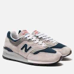 Мужские кроссовки New Balance M997WEB Suede Grey/Navy