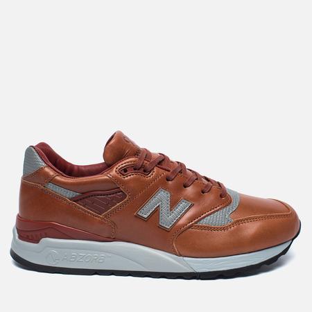 Мужские кроссовки New Balance M998BESP Bespoke Horween Brown/Silver