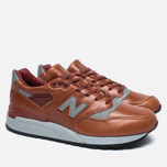 Мужские кроссовки New Balance M998BESP Bespoke Horween Brown/Silver фото- 1