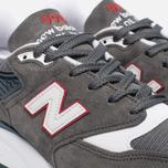 Мужские кроссовки New Balance M998CRA Grey/Turquoise фото- 5