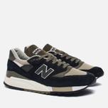 Мужские кроссовки New Balance M998CTR Black/Olive фото- 2