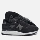 Мужские кроссовки New Balance M998DPHO Black/Silver фото- 1