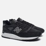 Мужские кроссовки New Balance M998DPHO Black/Silver фото- 2