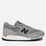 Мужские кроссовки New Balance M998DTK Light Grey/Black фото- 0