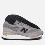 Мужские кроссовки New Balance M998DTK Light Grey/Black фото- 2