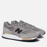Мужские кроссовки New Balance M998DTK Light Grey/Black фото- 1