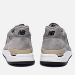 Мужские кроссовки New Balance M998DTK Light Grey/Black фото- 3