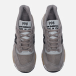 Мужские кроссовки New Balance M998DTK Light Grey/Black фото- 4