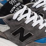 Мужские кроссовки New Balance M998NF Grey/Navy/Blue Colourway фото- 6