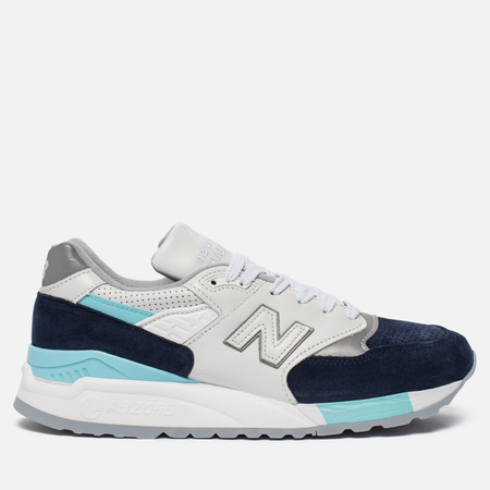 Мужские кроссовки New Balance M998WTP White/Navy/Blue/Silver
