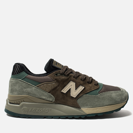 Мужские кроссовки New Balance M998AWA Military Pack Green/Brown
