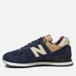 Мужские кроссовки New Balance ML574HVA Blue/Green/Brown фото- 1