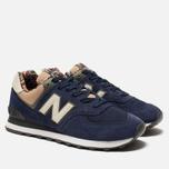 Мужские кроссовки New Balance ML574HVA Blue/Green/Brown фото- 2