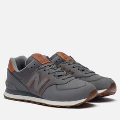 Мужские кроссовки New Balance ML574NBA Grey/Brown/White