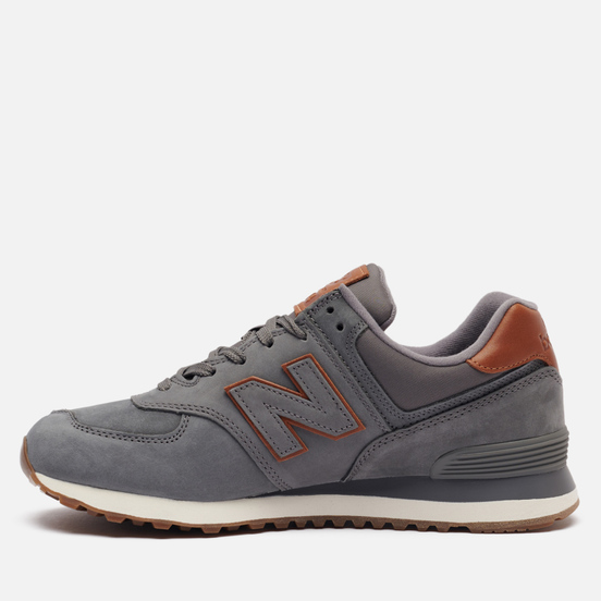 Мужские кроссовки New Balance ML574NBA Grey/Brown/White