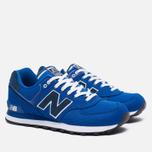 Мужские кроссовки New Balance ML574POB Pique Polo Pack Blue фото- 2