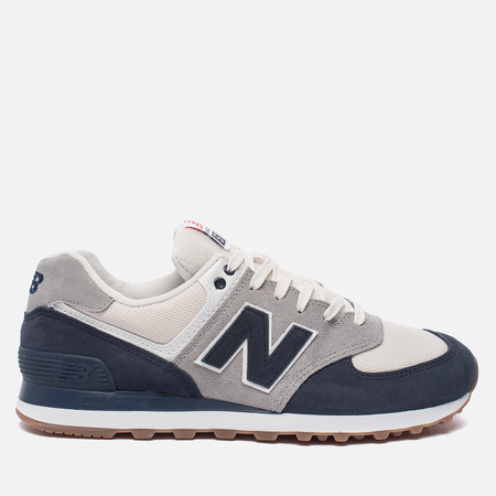 Мужские кроссовки New Balance ML574RSC Navy/Silver Mink