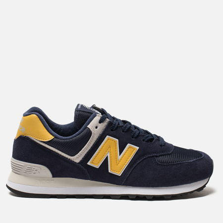 Мужские кроссовки New Balance ML574SMB Navy/Yellow/Light Grey